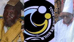 Nayiri Naa, Bohigu Abdulai Mahami Sheriga (L) and Nana Akufo-Addo (R)