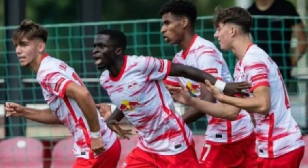 Ghanaian duo in action for RB Leipzig in UEFA U19 Champions League