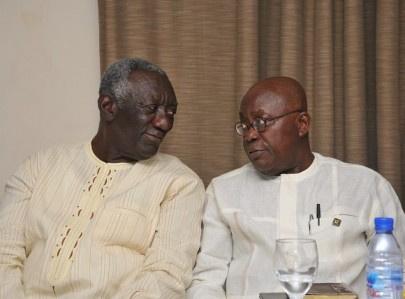 Former president, John Agyekum Kufuor with Nana Addo