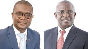 Mr Kwabena Nifa Aning and Mr Sheikh Jobe