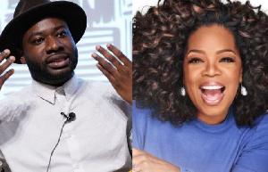 Ghanaian filmmaker, Blitz Bazawule and Oprah Winfrey