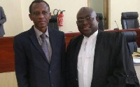 Justice Uuter Paul Dery with Nii Kpakpo Samoa Addo