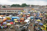 Picture of a market at Kumasi