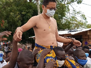 Sun Qiang is the Nkosuohene of Kwahu Abetifi
