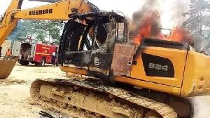 Burnt Excavators