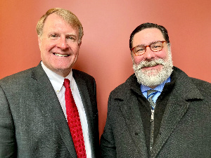 Mayor of Pittsburgh, Bill Peduto and the Allegheny County Executive, Rich Fitzgerald