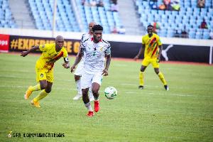 Partey scored a free kick against Zimbabwe