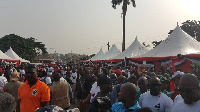 Hundreds of National Democratic Congress (NDC) members joined in the celebrations at Ho