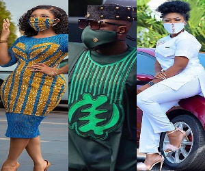 Some Ghanaian personalities wearing their nose masks