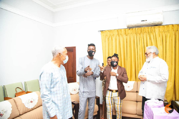 Keche [with black nose mask]; Mr. Rawlings [R]