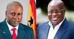 Flagbearers of the NDC and NPP, John Dramani Mahama and Nana Addo Dankwa Akufo-Addo