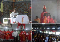 President Akufo-Addo commenced a 3-day work visit at the Holy Spirit Catholic Church, Sunyani