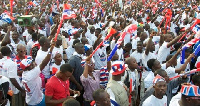 Some NPP supporters at a rally