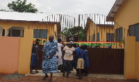 The GHC400,000 block funded with district development fund is expected to serve the school's needs