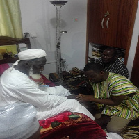 Abdul Aziz Mohammed receives blessings from the National Chief Imam
