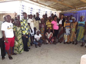 Some of the participants in a group photograph