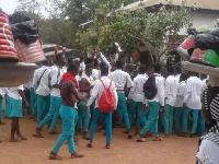 Some angry Atebubu SHS students