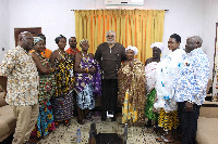 The queenmothers in a group photo with President Rawlings