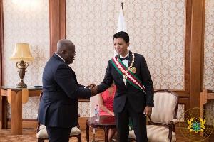 President Nana Addo Dankwa Akufo-Addo, President of the Republic of Madagascar, Andry Nirina Rajoeli