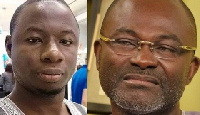 The late Ahmed Hussein-Suale and Assin Central MP, Kennedy Agyapong