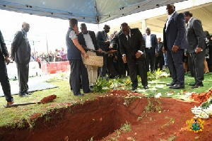 President Akufo-Addo pays his last respect to the late South African legend, Hugh Masekela