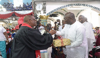 Dr. Bawumia was given a birthday hamper on behalf of the the entire congregation