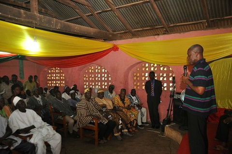Vice President Amissah-Arthur addressing the gathering