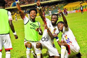 Jubilant Accra Hearts of Oak players