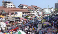File photo: A busy market in Accra