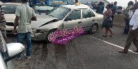A cargo truck rammed into 8 saloon cars