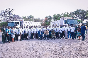 The Zoomlion trainees in a group photo