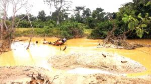 Birim River Destroyed By Galamsey