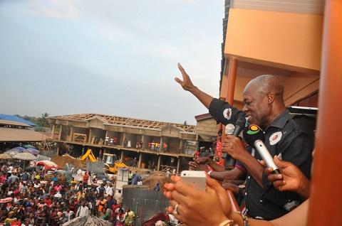 Vice President Kwesi Amissah-Arthur on a campaign tour