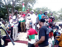 Deputy Interior Minister, addressing NDC supporters at Sandema at the weekend