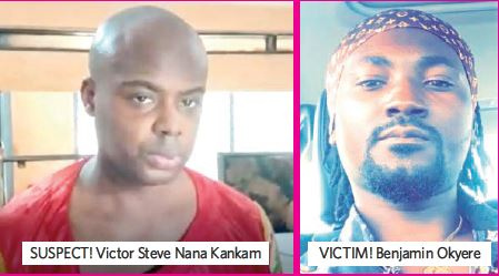 Stephen Nana Kamkam (L) is alleged to have murdered his tenant