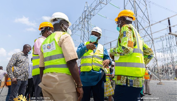 Energy Minister inspects ongoing works at BSP, Pokuase