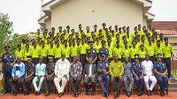 Vice President Dr. Mahamudu Bawumia with Community Protection officers