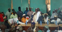 Kampakuya Naa, Andani Yakubu Abdulai and some chiefs at the Regional House of Chiefs in Tamale
