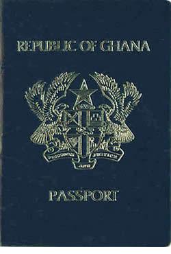 Old Ghana passport