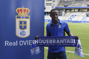 The skilful midfielder joined Oviedo on loan from Manchester City in the 2017/18 season