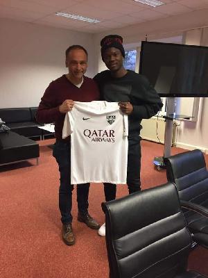 Ghanaian defender Emmanuel Adjei Sowah