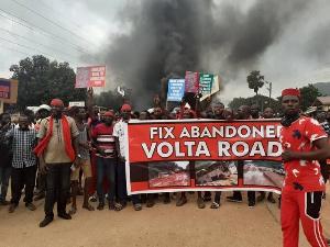 File photo of demonstrator in the Volta region