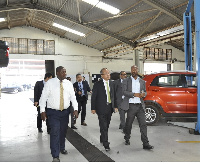 Koichi Suzuki, General Manager, Middle East/Africa Automobile Department leading the delegation