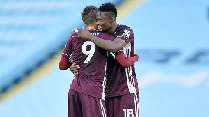 Black Stars Defender, Daniel Amartey And His Leicester City Teammate, Jarmie Vardy.jpeg