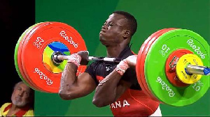 File photo - Ghanaian weightlifter