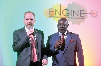 Philip Smith, Country Director, DFID Ghana, and Joe Tackie, Chief Director, Business Dev't Ministry