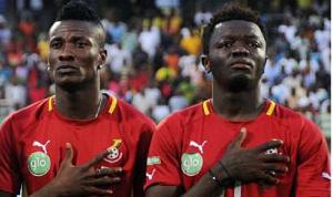 Ghanaian duo, Asamoah Gyan and Sulley Ali Muntari