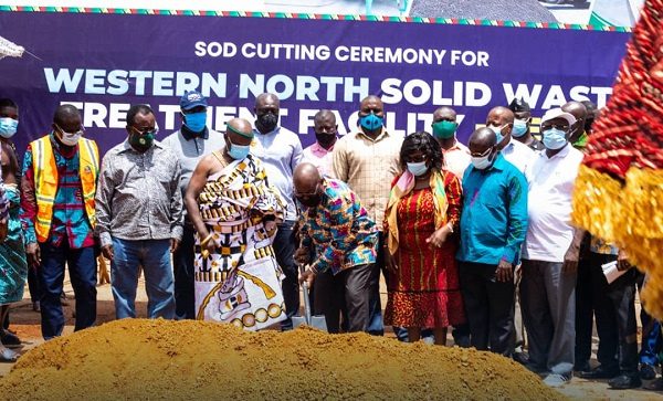 President Akufo-Addo cuts sod for €15 million solid waste treatment facility
