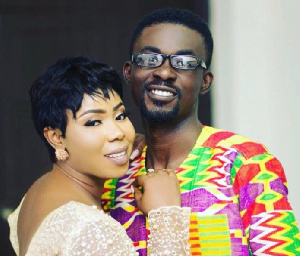 MenzGold boss Nana Appiah Mensah with his wife Rozy