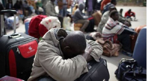 File photo of stranded Ghanaians